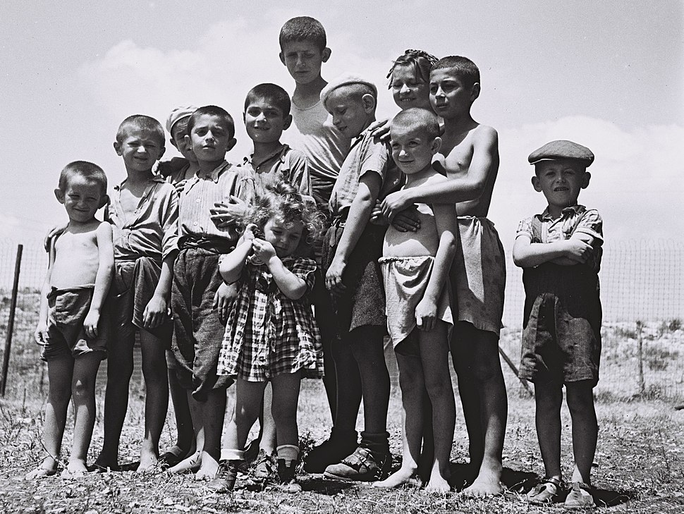 Flickr - Government Press Office (GPO) - A group of orphans, survivors of the holocaust, atthe reception camp in Atlit.