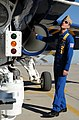 Flickr - Official U.S. Navy Imagery - Blue Angel pilot checks his aircraft..jpg
