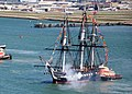 Flickr - Official U.S. Navy Imagery - USS Constitution fires a 21-gun salute toward Fort Independence on Castle Island in Boston Harbor.jpg