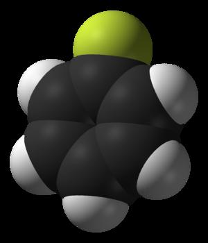 Fluorobenzene - Image: Fluorobenzene 3D vd W