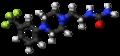 Fluprazine molecule ball.png