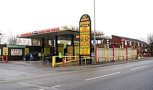 Car wash - Ex Petrol station and now hand car wash in Bradford, UK