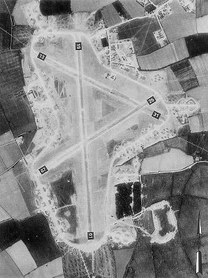 RAF Folkingham - Folkingham Airfield - 9 May 1944 with scores of gliders and C-47s about a month before D-Day.