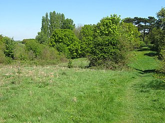 Dartford Heath - Footpath leading from Old Bexley Lane into a south-western corner of the heath.