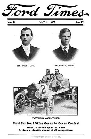 Ocean to Ocean Automobile Endurance Contest - Henry Ford widely publicized his victory