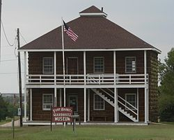 Fort Harker Guardhouse Museum from E 1.JPG