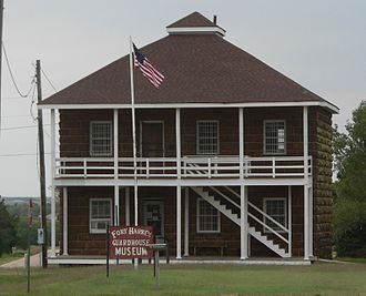 Fort Harker (Kansas) - Fort Harker guardhouse