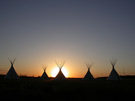 Fort Union National Monument Five tipis at Fort Union 1327.jpg