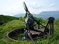 Fort du Mûrier - Reconstitution d'un canon.JPG