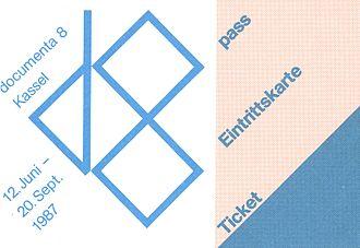 Documenta 8 - Foto Ticket documenta 8
