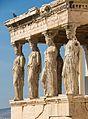 Four Caryatids erechtheum Acropolis Athens.jpg