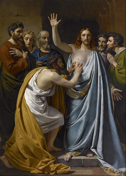 Bestand:François-Joseph Navez - The Incredulity of Saint Thomas - Google Art Project.jpg