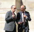 François Hurard avec le Ministre de la Culture Frédéric Mitterrand en 2011.png