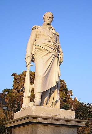 Pierre Cartellier - Sculpture of Gen. Valhubert, twice life-size, for the Pont de la Concorde, Paris, 1815 (in the Jardin de l'Eveché, Avranches, Normandy)