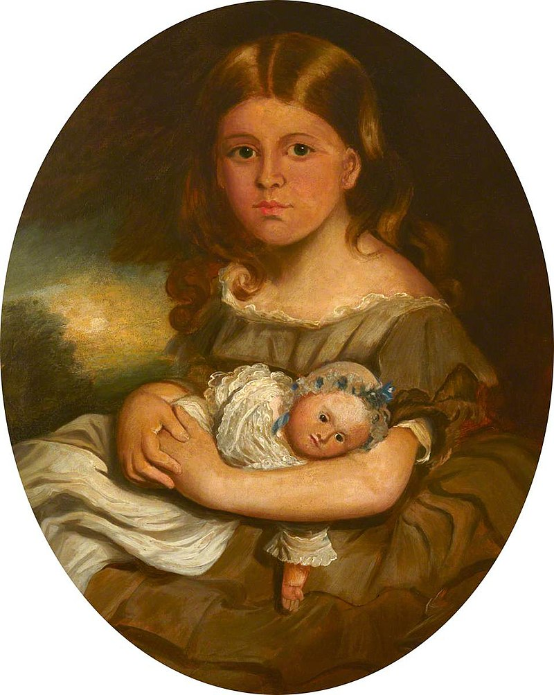 Francis Grant (1803-1878) - Lady Georgina Mary Louisa Moreton (^), Holding a Doll (later Lady Charles Edward Oakley) - 1530098 - National Trust.jpg
