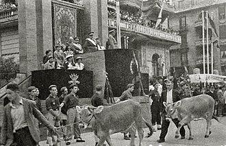 Antonio Arrúe Zarauz - Franco in Tolosa, 1948