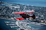 Freddy Cabanas in his Waco bi-plane over Key West (8517659771).jpg