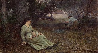 On the Wallaby Track - Image: Frederick Mc Cubbin On the wallaby track Google Art Project