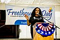 Mandisa Thomas speaking at California Freethought Day