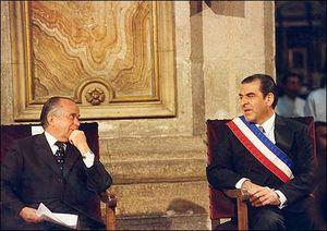 Andrés Zaldívar - Zaldívar with president Eduardo Frei Ruiz-Tagle