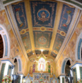 Frescos and Paintings on the sanctuary of the church painted by Bro. Antonio Moscheni in the year 1902.png