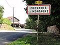 Fresnois-la-Montagne (Meurthe-et-M.) city limit sign.JPG
