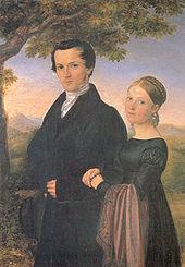 Friedrich Silcher, Hochzeitsbild um 1822 (Quelle: Wikimedia)