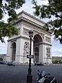 Front right views of the Arc de Triomphe, Paris 28 July 2007.jpg
