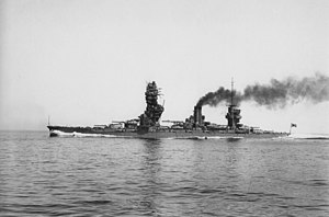 Japanese battleship Fusō - Image: Fuso Trial Heading Left