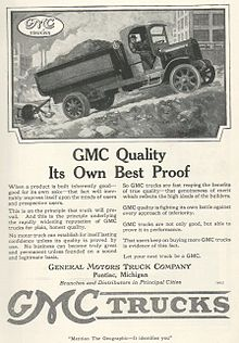 Gmc Truck From A 1919 Adver