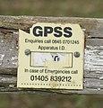 GPSS pipeline marker - geograph.org.uk - 1129662.jpg