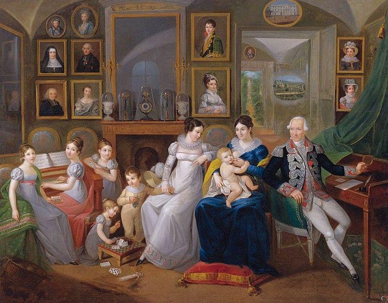 File:Gabriel Joseph de Froment, Baron de Castille (1747 - 1826) with family, French School, 19th Century.jpg