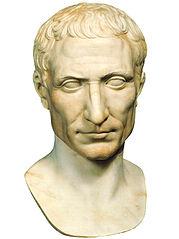 Portrait of Gauis Iulius Caesar. Marble, augustan age, Roma, Musei Vaticani, Museo Pio Clementino, Galleria dei Busti