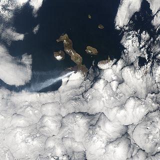 Sierra Negra (Galápagos) volcano on the Galapagos island Isabela