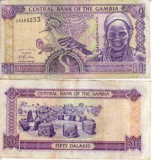 50 dalasi note