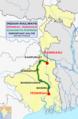 Ganadevta Express (Howrah - Azimganj) Route map.png