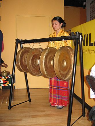 Gandingan - Traditionally, women were only ones allowed to play the gandingan