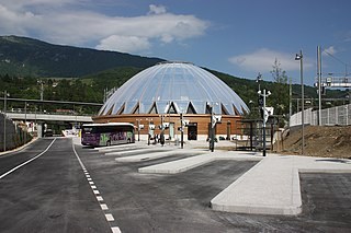 railway station in Bellegarde-sur-Valserine, France