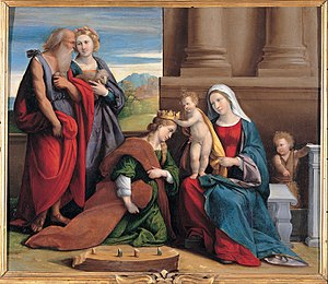 Benvenuto Tisi - Coronation of Saint Catherine, Capitoline Museums