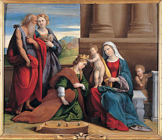 Benvenuto Tisi - Coronation of Saint Catherine, Capitoline Museums
