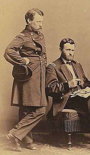 Adam Badeau - Image: Generals Ulysses S Grant & Adam Badeau 1865