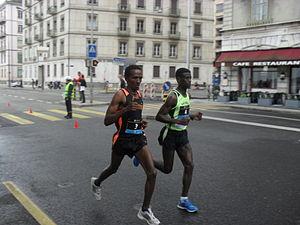 Geneva Marathon - Teshomi Temerate and Germa Tsiga in 2010.