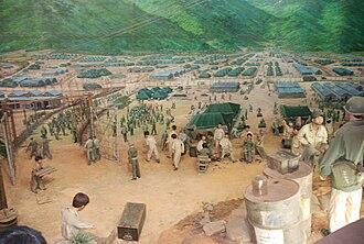 Geoje prison camp - Image: Geoje POW Camp miniature 02