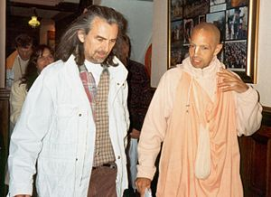 The Radha Krsna Temple (album) - Harrison and Mukunda at ISKCON's Bhaktivedanta Manor in 1996