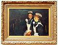 George Hendrik Breitner (1857-1923), Twee dienstboden op een Amsterdamse brug bij avond, 1890, Oleiverf op doek.JPG