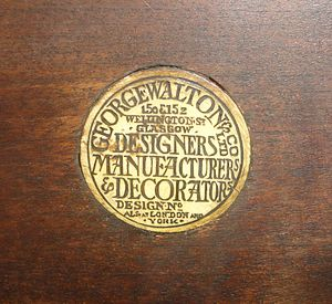 George Henry Walton - Button used by Walton on his furniture designs