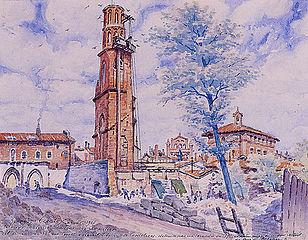 Le vieux Toulouse. La tour des Cordeliers