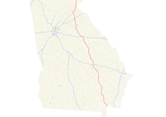 Georgia State Route 15 - Image: Georgia state route 15 map