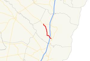 Georgia State Route 251 - Image: Georgia state route 251 map
