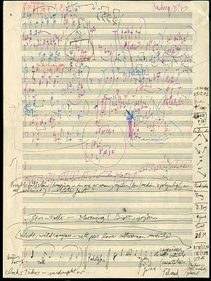 Gerald Barry (composer) - Barry's sketch for the opera The Bitter Tears of Petra von Kant